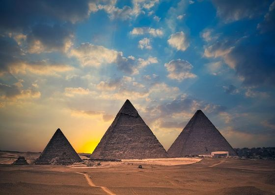 The Pyramids of Egypt. Print/Poster. Sizes: A4/A3/A2/A1 (002279)